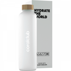 "Szklana butelka ""Hydrate the World"""