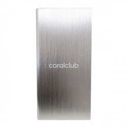 Powerbank z logo Coral Club, srebrny